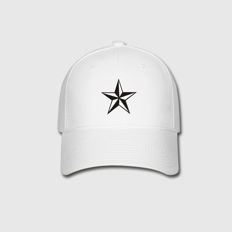 White nautic star Caps - Baseball Cap