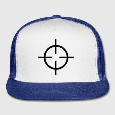 White Crosshairs - Gun Buttons - Trucker Cap