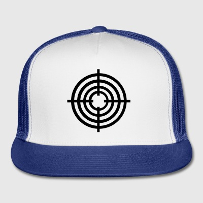 White Crosshairs Buttons - Trucker Cap