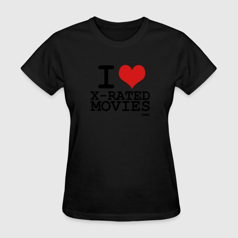 Black i love x rated movies by wam Women's T-Shirts - Women's T-Shirt
