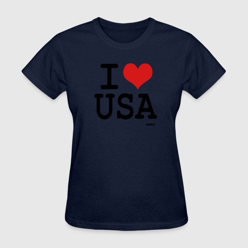 Navy i love usa by wam Women's T-Shirts - Women's T-Shirt