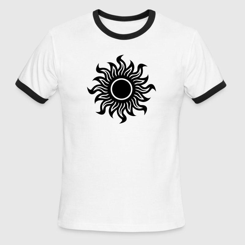White/black black hole sun T-Shirts - Men's Ringer T-Shirt