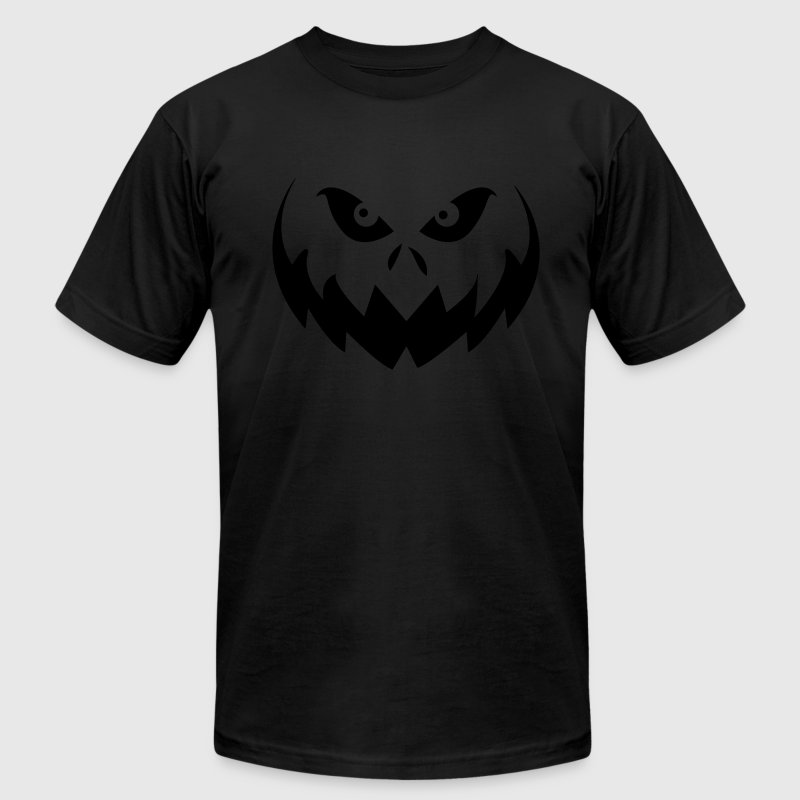 Black Jack O'Lantern Halloween Pumpkin Face T-Shirts - Men's T-Shirt by American Apparel