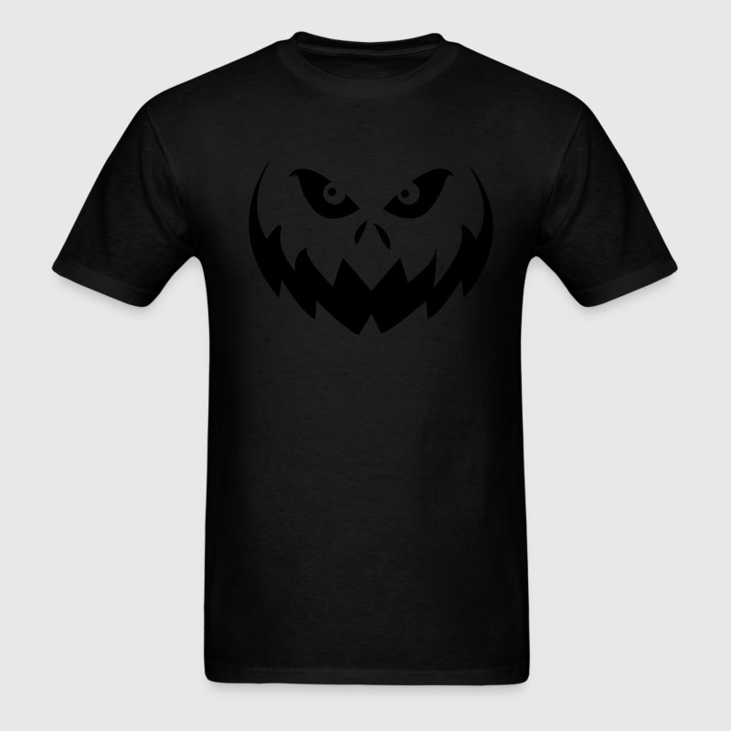 Black Jack O'Lantern Halloween Pumpkin Face T-Shirts - Men's T-Shirt