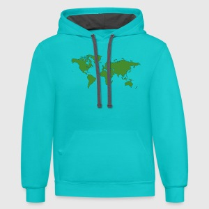 World map t shirt spreadshirt contrast hoodie gumiabroncs Choice Image
