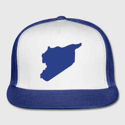 White Syria Buttons - Trucker Cap