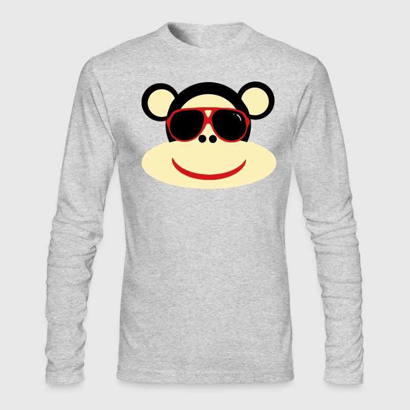 Brown cool monkey Long Sleeve Shirts - Men's Long Sleeve T-Shirt by Next Level
