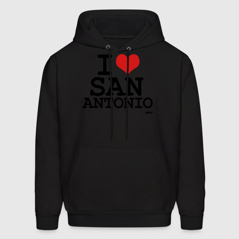 Black i love san antonio by wam Hoodies - Men's Hoodie