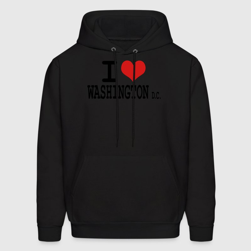 Black i love washington dc by wam Hoodies - Men's Hoodie