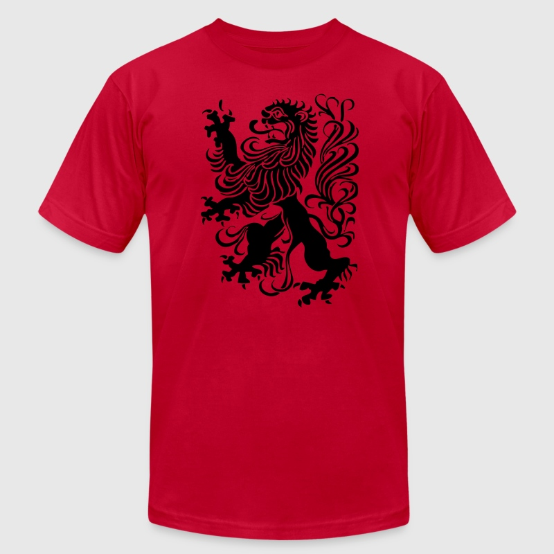 Brown royal lion design T-Shirts - Men's T-Shirt by American Apparel