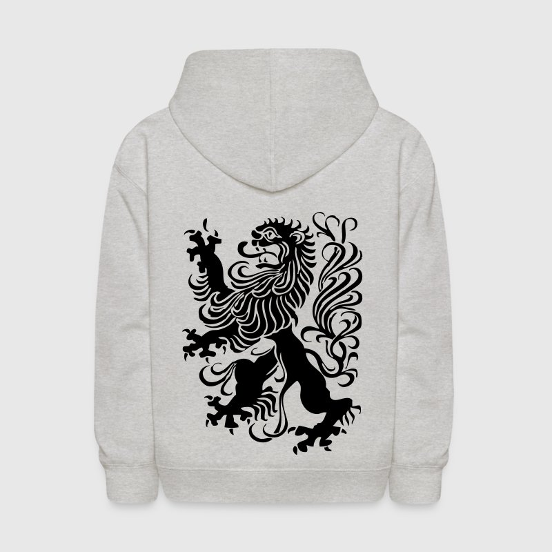 Heather grey royal lion design Sweatshirts - Kids' Hoodie
