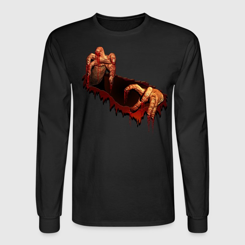 Zombie T-shirts Gory Halloween Scary Zombie Gifts - Men's Long Sleeve T-Shirt