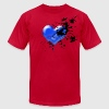 Brown My Broken Blue Heart T-Shirts - Men's T-Shirt by American Apparel