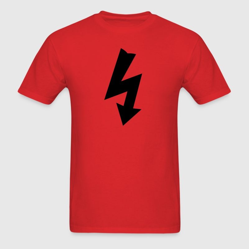 Red Electricity Symbol T-Shirts - Men's T-Shirt