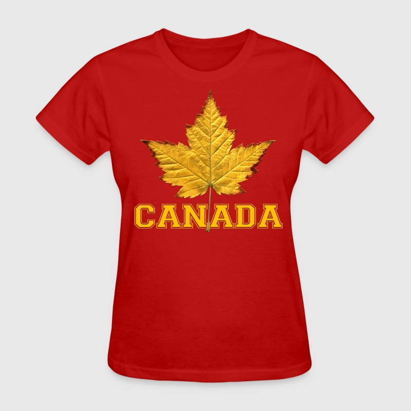 Womens Canada Shirt Maple Leaf Souvenir Shirt - Women's T-Shirt