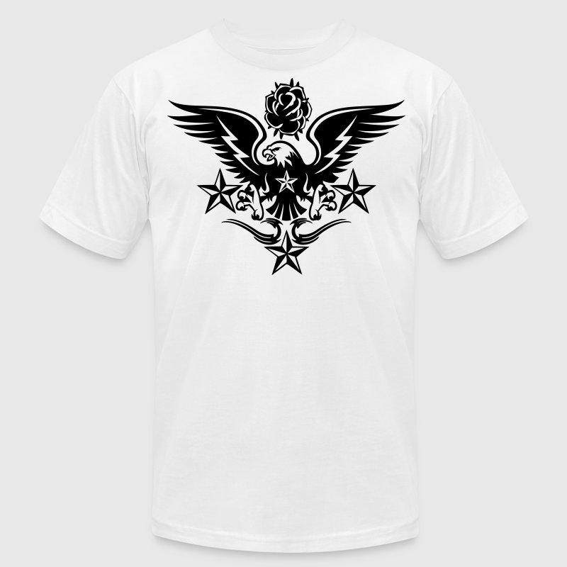 Apparel Pinterest Russian Eagle Rose And Nautical Star Lightning Tattoo T Shirt Spreadshirt
