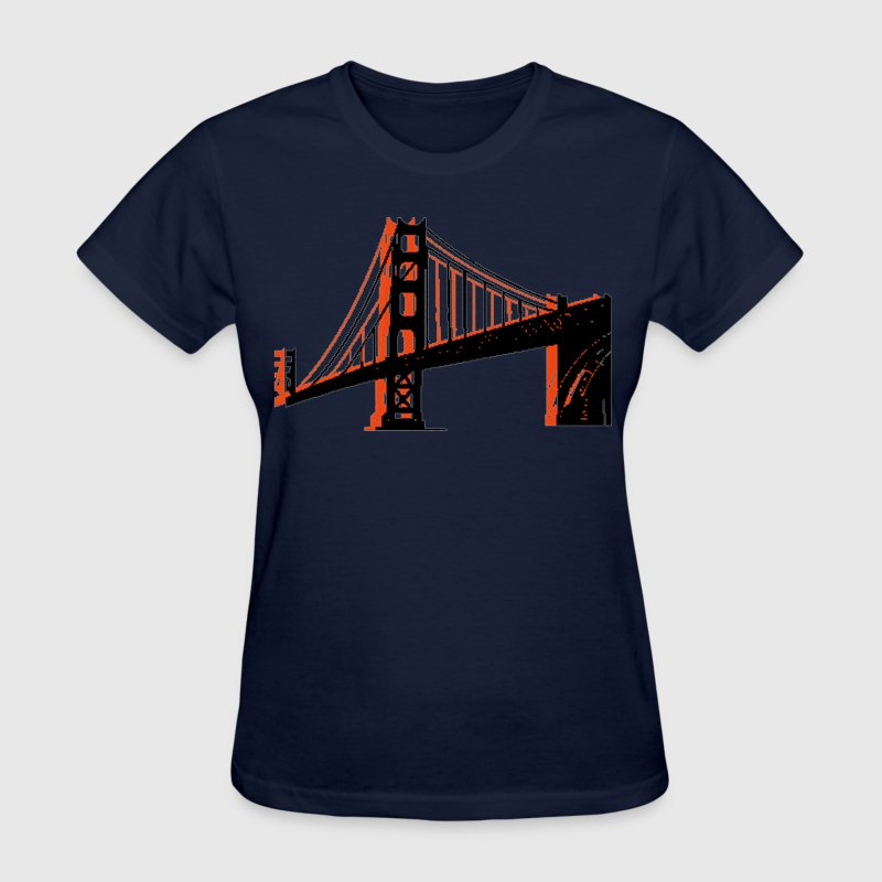 Navy Golden Gate Bridge Women's T-Shirts - Women's T-Shirt