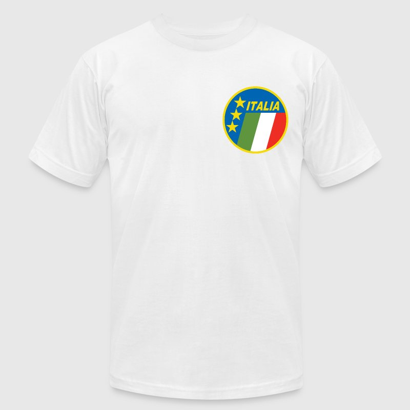 White Italy Soccer Vintage T-Shirts - Men's T-Shirt by American Apparel