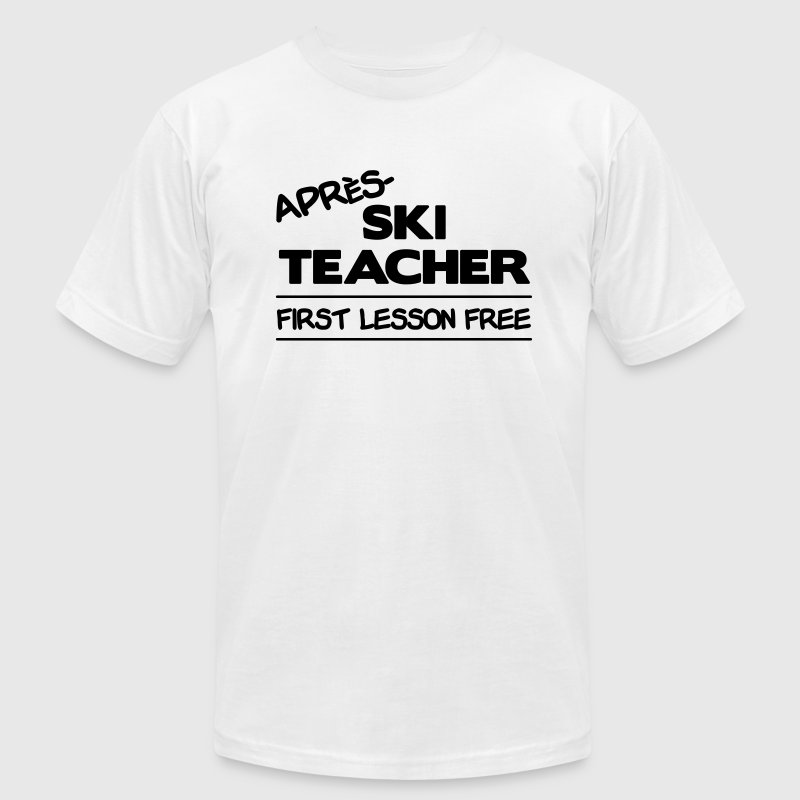 Gold Apres Ski Teacher T-Shirts - Men's T-Shirt by American Apparel