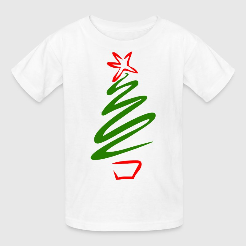 White Christmas tree Kids' Shirts - Kids' T-Shirt
