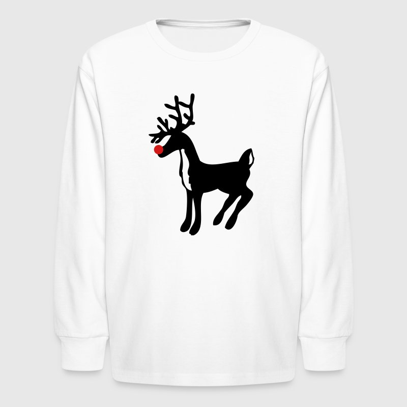 White rudolph the red nose reindeer Kids' Shirts - Kids' Long Sleeve T-Shirt