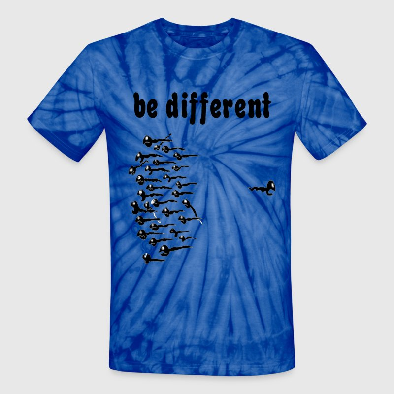Spider red Be Different Sperm T-Shirts - Unisex Tie Dye T-Shirt