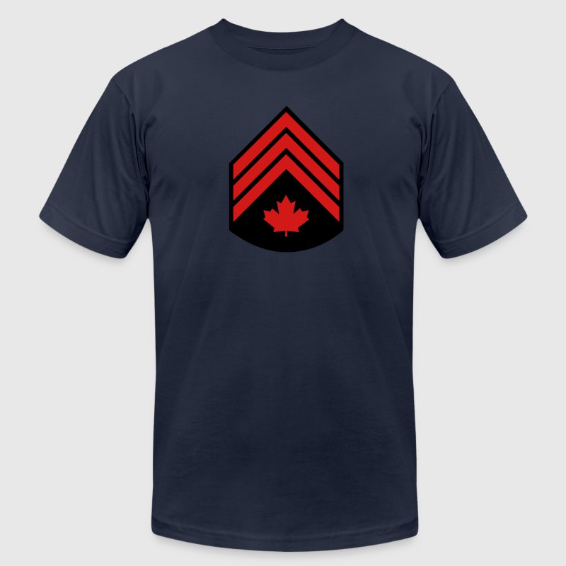 Navy Canadian Forces Sergeant T-Shirts - Men's T-Shirt by American Apparel