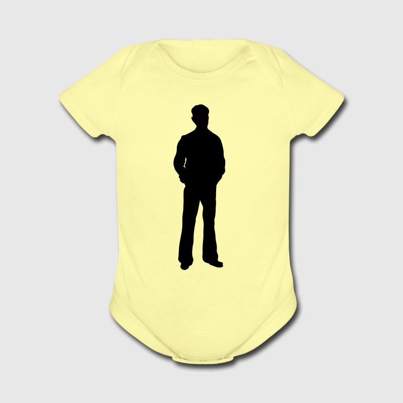 Lemon Male man trendy coat swinger silhouette Baby Body - Short Sleeve Baby Bodysuit