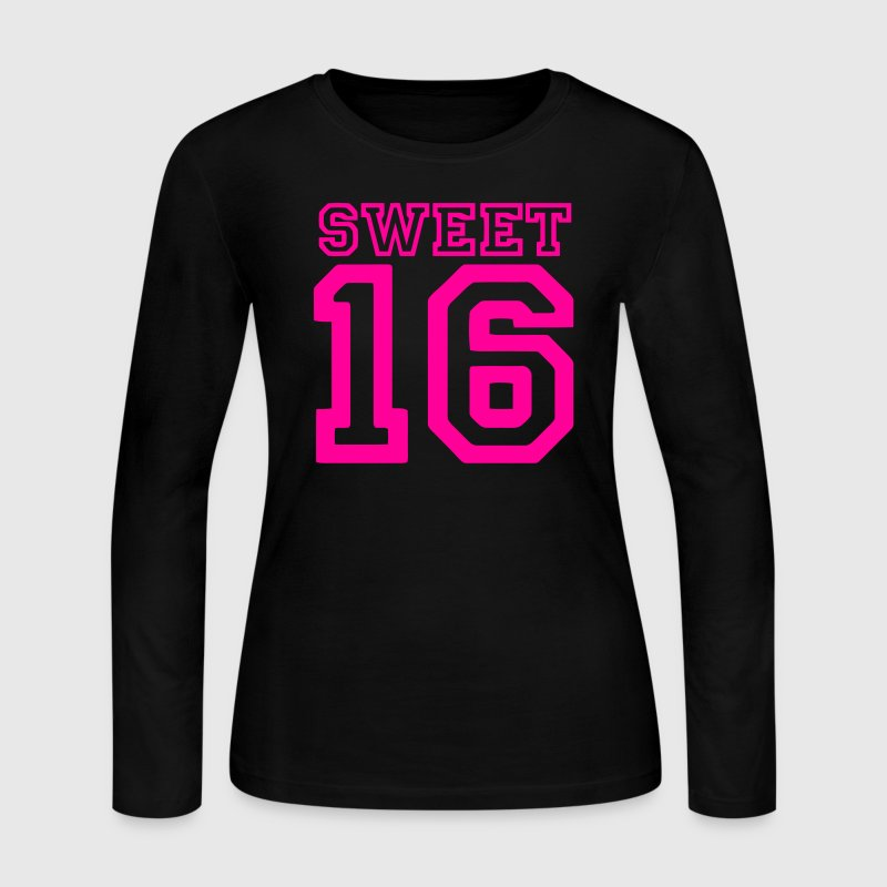 Light pink sweet 16 Long Sleeve Shirts - Women's Long Sleeve Jersey T-Shirt