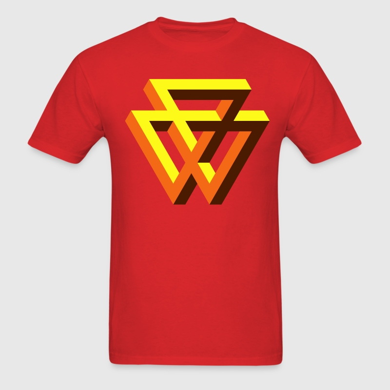 Red Super Impossible Triangle T-Shirts - Men's T-Shirt