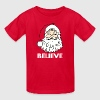 Red I Believe in Santa Claus Kids' Shirts - Kids' T-Shirt