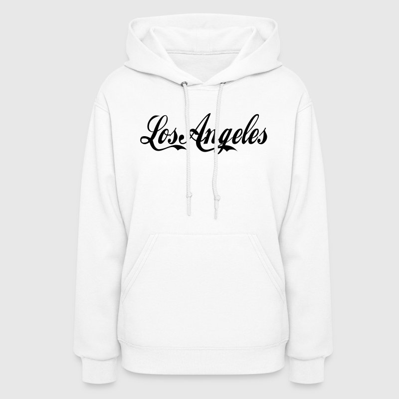 White los angeles Hoodies - Women's Hoodie