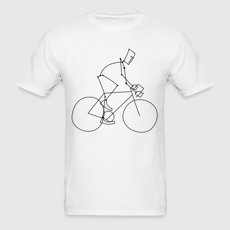 White bicycle stickman T-Shirts - Men's T-Shirt