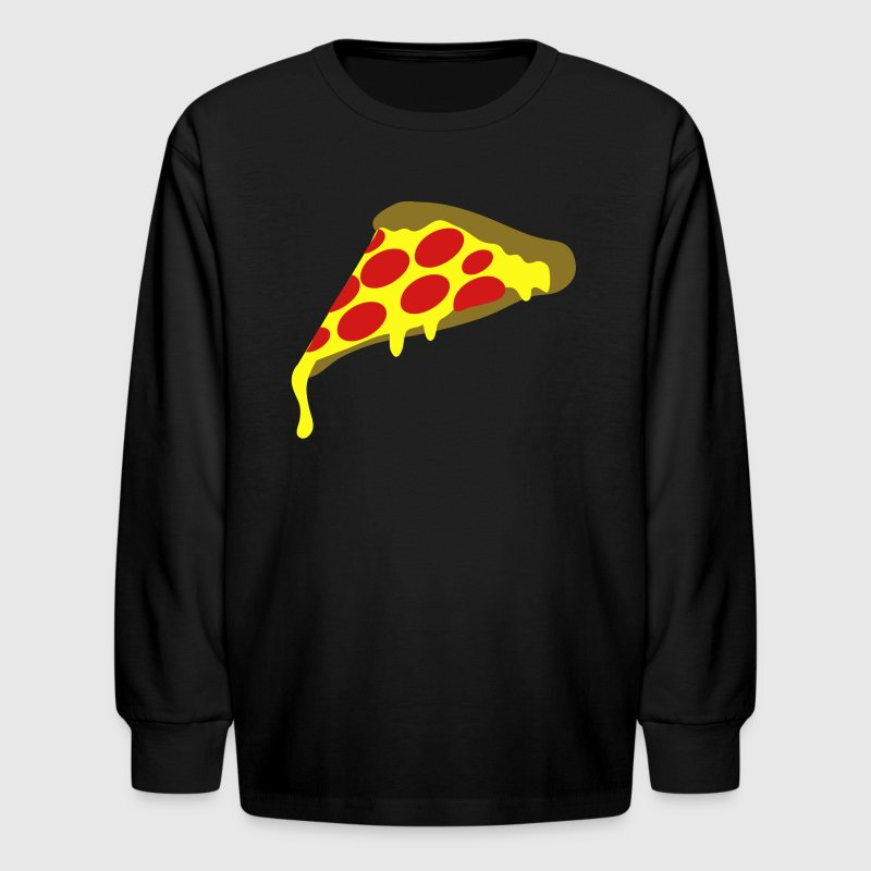 Red pepperoni pizza slice Kids' Shirts - Kids' Long Sleeve T-Shirt
