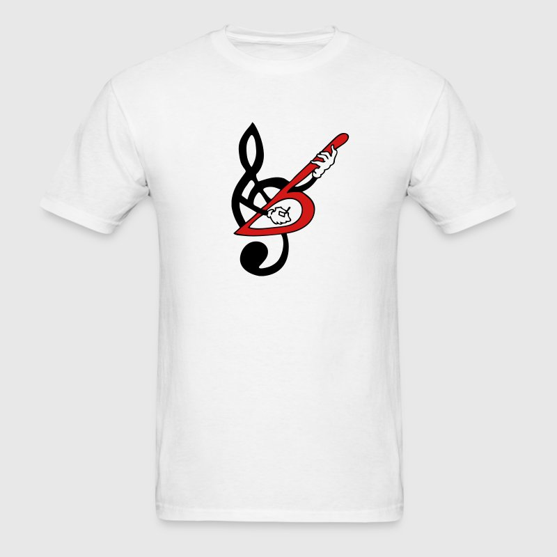 Treble Clef Guitar Bass 2c - Men's T-Shirt