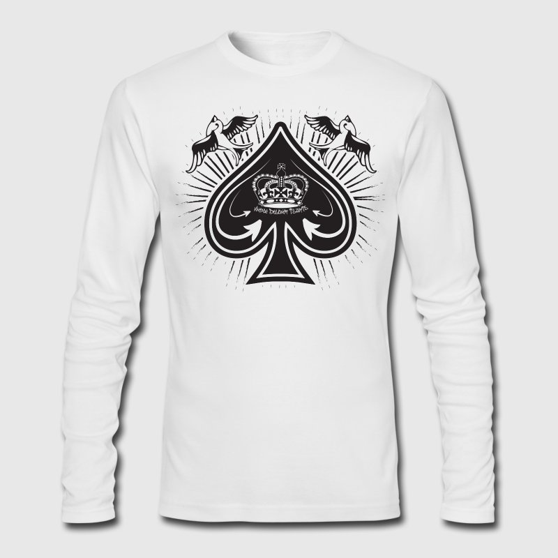 White spade Long Sleeve Shirts - Men's Long Sleeve T-Shirt by Next Level