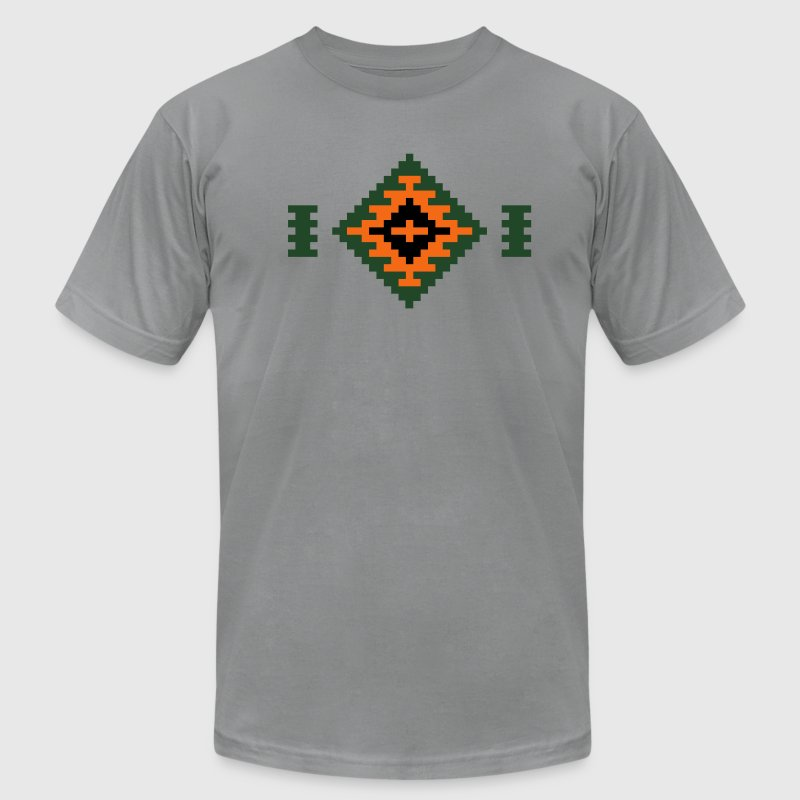 Slate Oriental Rug T-Shirts - Men's T-Shirt by American Apparel
