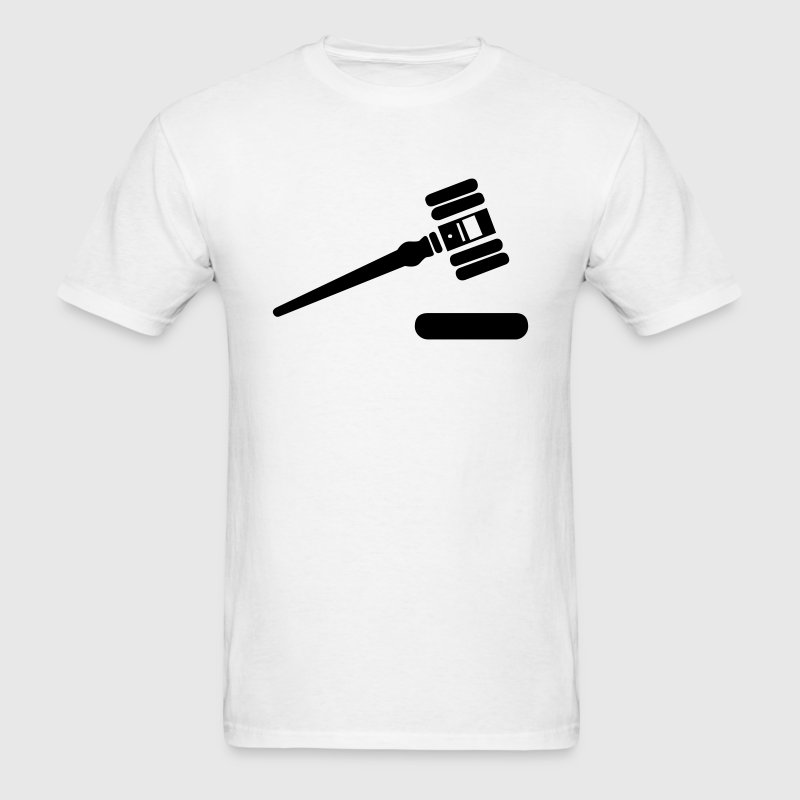Gavel Judge Mallet Maul 1c - Men's T-Shirt