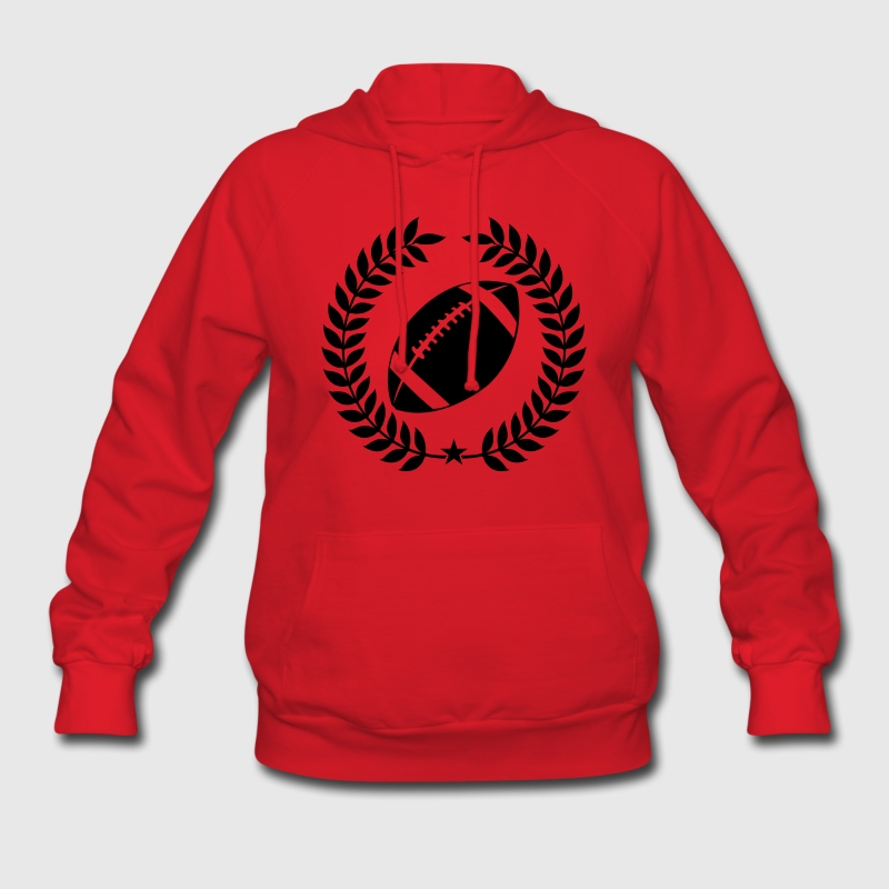 Red Cool Football Graphic Hoodies - Women's Hoodie