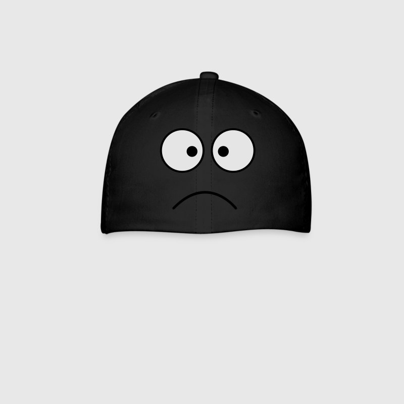 Royal blue crazy face eyes together frown Caps - Baseball Cap