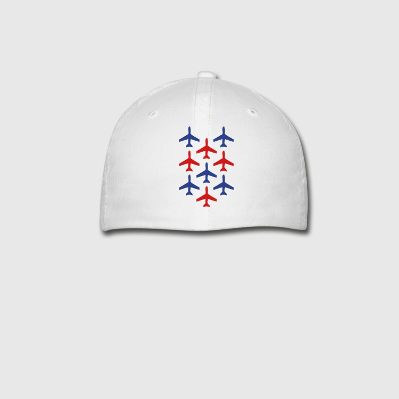 White top gun planes in formation Caps - Baseball Cap