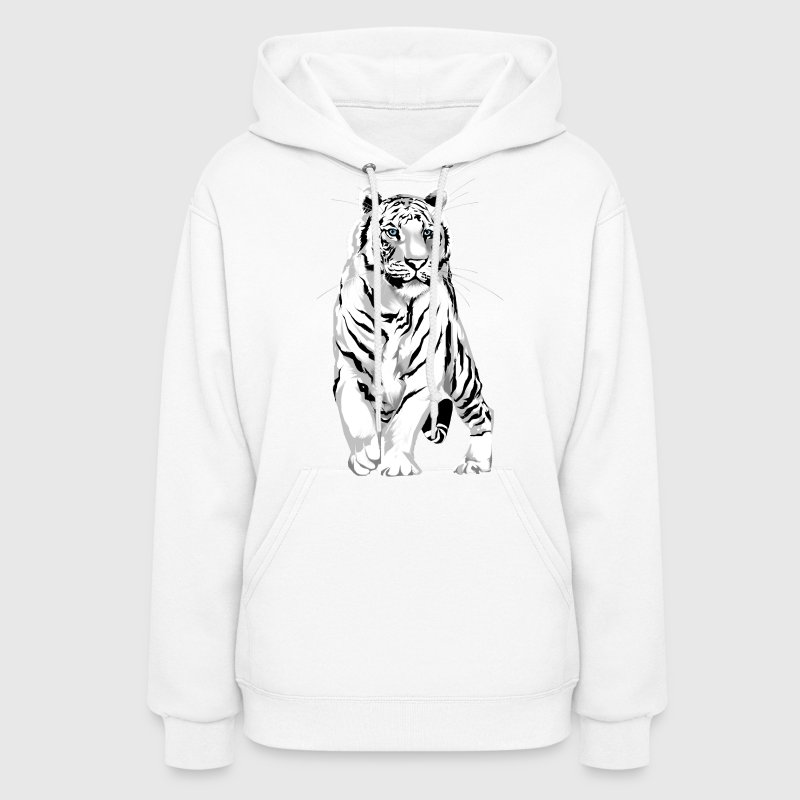 Stately White Tiger - Women's Hoodie