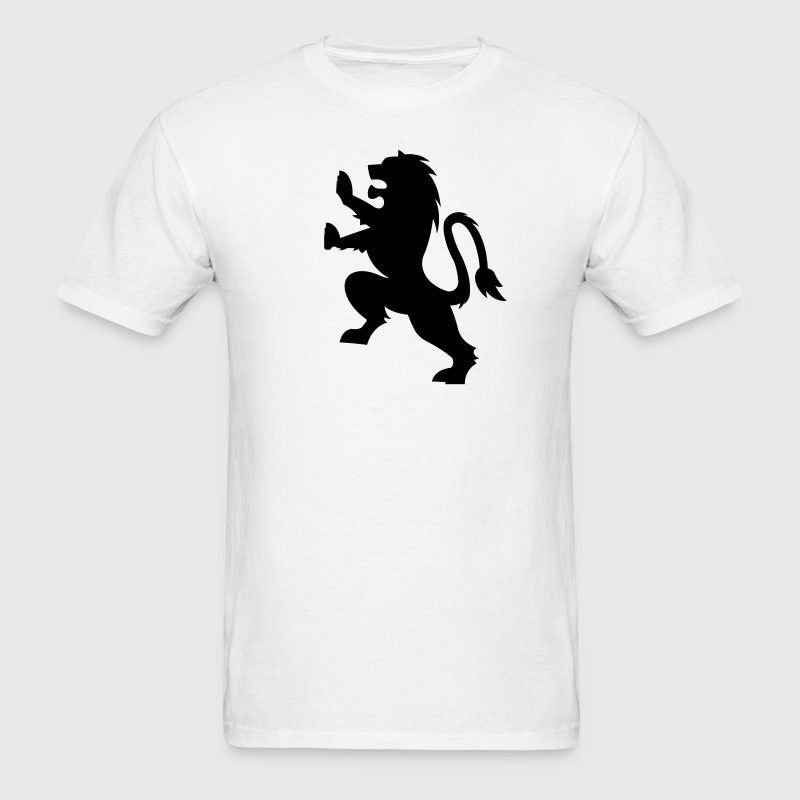 Fierce Lion Crest 1c - Men's T-Shirt