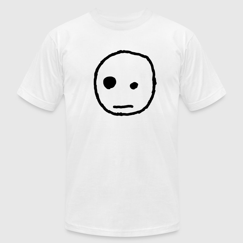 White Apathetic Face T-Shirts - Men's T-Shirt by American Apparel