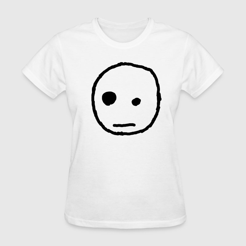 apathetic face women's - Women's T-Shirt