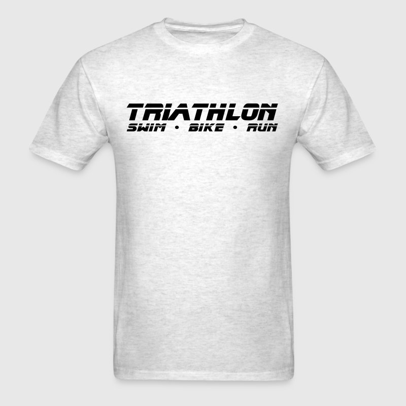 Light oxford Triathlon Swim Bike Run Sleek Design T-Shirts - Men's T-Shirt