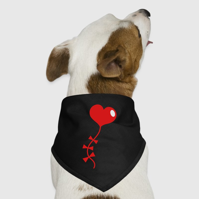 Black love heart kite flying Other - Dog Bandana