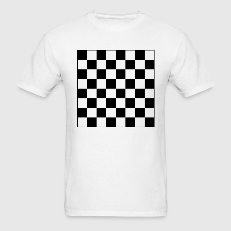 Chess Board Checkers 1c - Men's T-Shirt