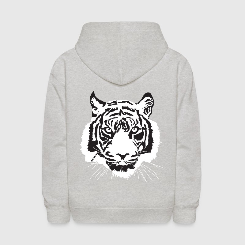Heather grey white tiger Sweatshirts - Kids' Hoodie