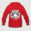 Red white tiger Hoodies - Women's Hoodie